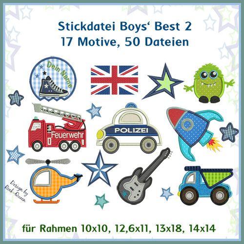 Boys Best 2 Stickdatei http://www.rock-queen.de/epages/78332820.sf/de_DE/?ObjectPath=/Shops/78332820/Products/20051