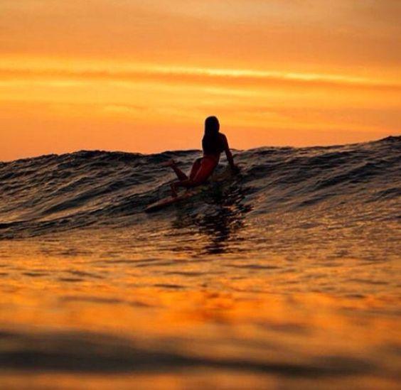 Midnight surf