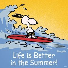 Life is better in the summer.: