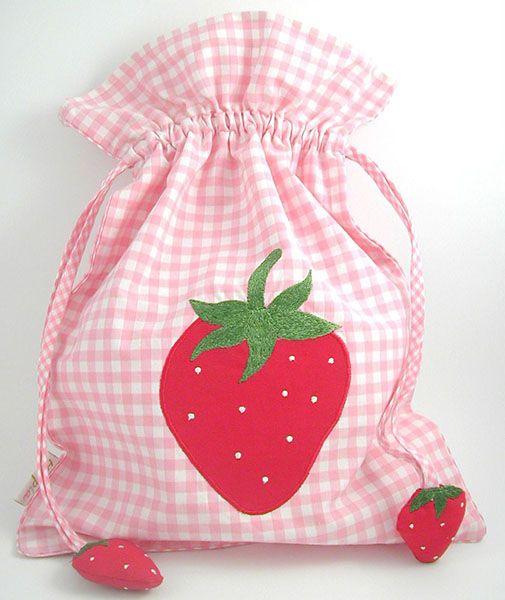 Kinder Turnbeutel, Erdbeere