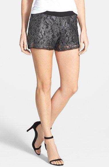 LAmade 'Mayra' Metallic Lace Shorts available at #Nordstrom