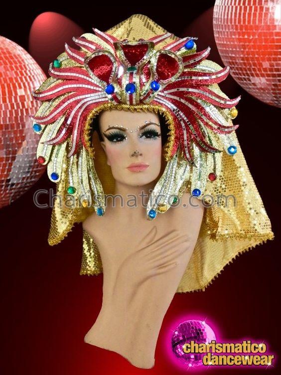 Charismatico Dancewear Store - CHARISMATICO Royal Egyptian crown style golden…