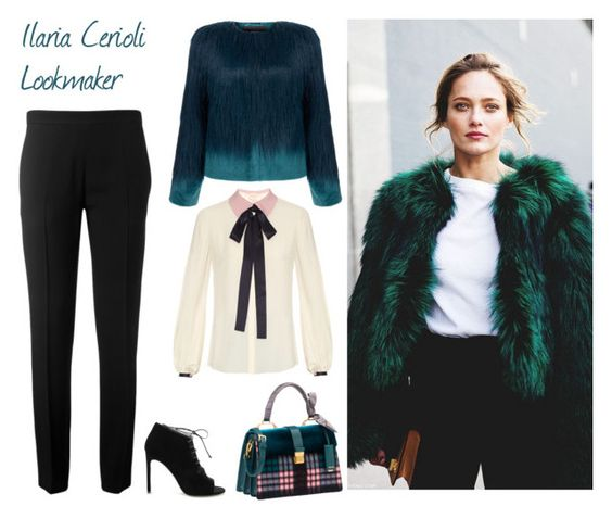 """""""Faux fur"""" by ilaria-lookmaker ❤ liked on Polyvore featuring Unreal Fur, Miu Miu, Chloé, Roksanda and Yves Saint Laurent"""