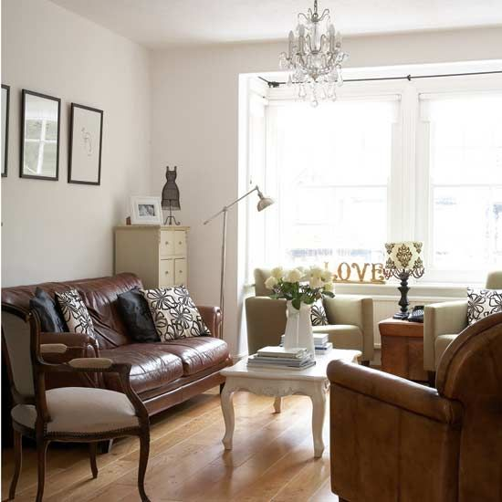 Brown Leather Sofa With White Coffee Table I Dont Love