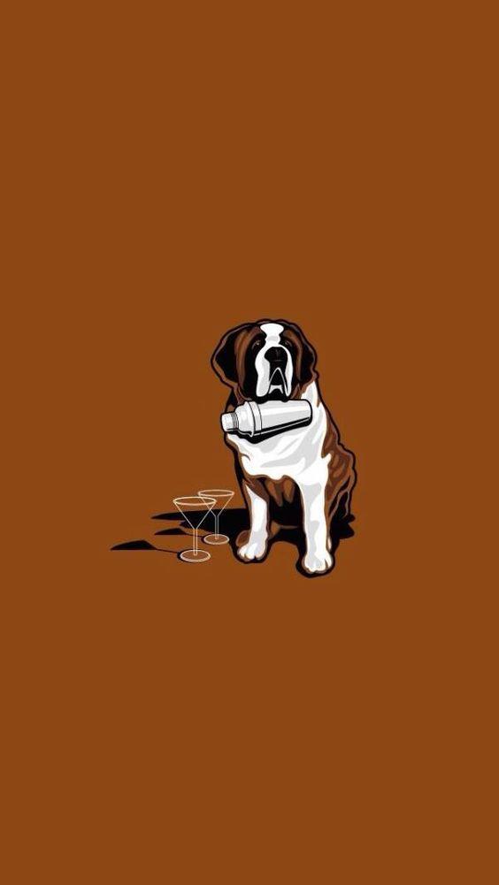 飲み物をこぼすおしゃれでかっこいい犬の壁紙
