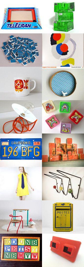 #Cubismes etc. by Lucile on Etsy--Pinned+with+TreasuryPin.com #vintagefr #vintagefrance #frenchvintage #frenchdecor #70s #homedecor #vintage #seventies #bohostyle #bohemiandecor #colorfuldecor #FeelingOfDejaVu #cubism #inspiration #artdecor