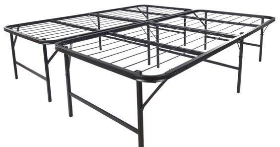Platform Bed Frame King Mattress Foundation Foldable Bedroom Guest