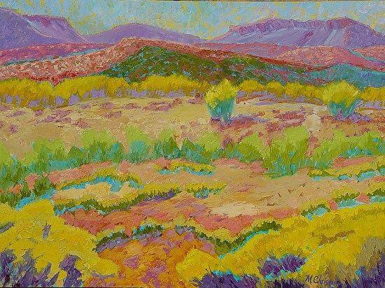 "Desert Meadow, 36x48 by Michelle Chrisman Oil ~ 36"" x 48"""