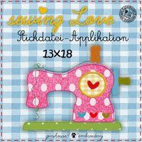 sewing LOVE Stickdatei Applikation 13x18 - ginihouse3