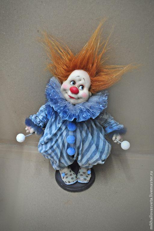 Kolekcjonowania lalek ręcznie.  Tolly Clown.  Michajłow Light (mikhailovasveta).  Sklep internetowy Fair Masters.  Clown, tkaniny