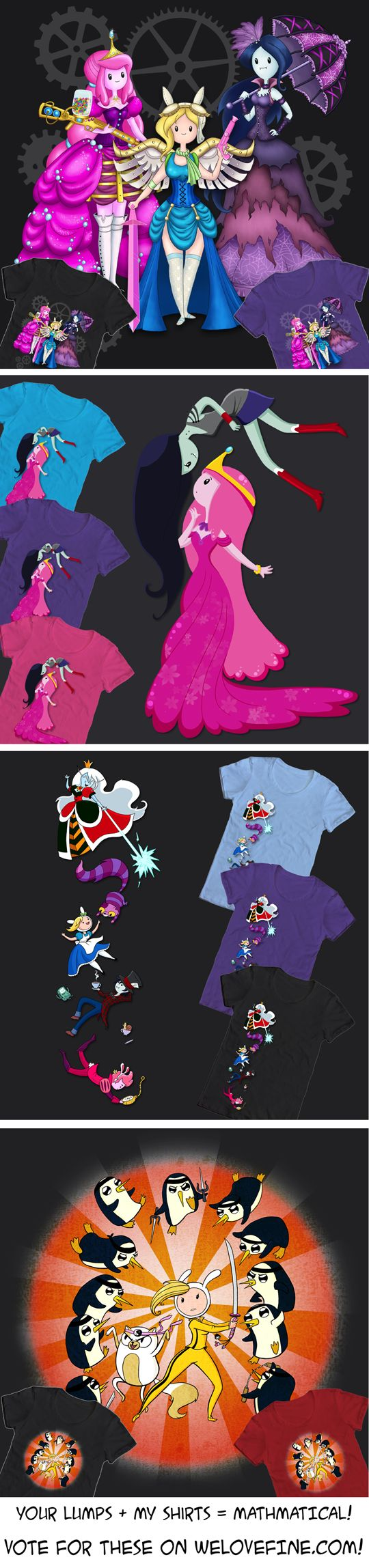 WeLoveFine Adventure Time T-Shirt Contest! by NikkiWardArt.deviantart.com on @DeviantArt