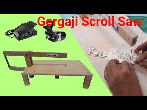 Cara Membuat Gergaji Scroll Saw Youtube Dengan Gambar