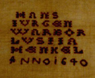 1640 Cross stitch