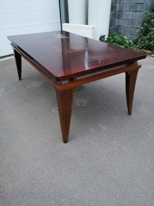 Exceptionnelle Table Gaston Poisson Acajou Art Deco 1940 En 2020 Art Deco Table Art Deco Table Salle A Manger