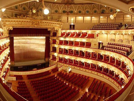 Teatro Petruzzelli Bari Interno 1903 Arch Angelo