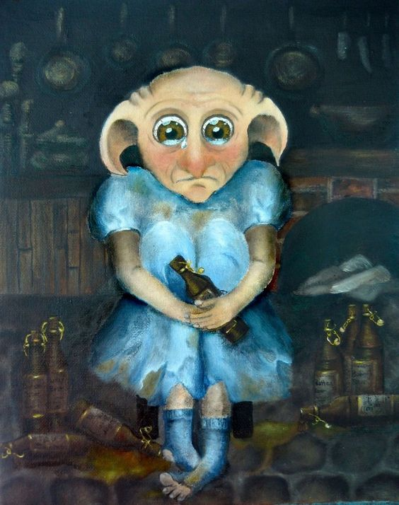 Winky the House Elf by VivalaVida.deviantart.com on @DeviantArt