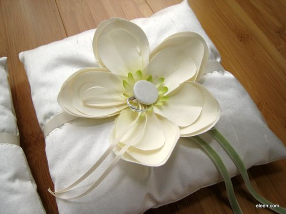 Ring Pillow    #Wedding #DIY #Party...I would like it in purple or a dark blue!
