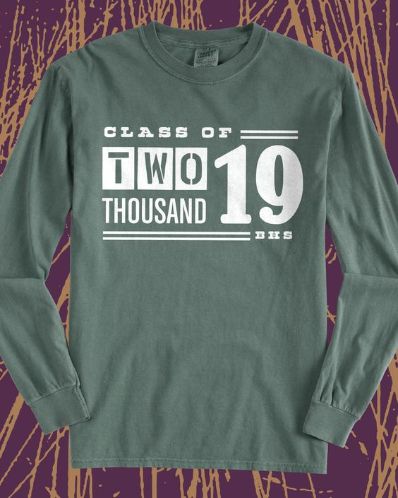 class of 2019 vintage long sleeve tee design idea for