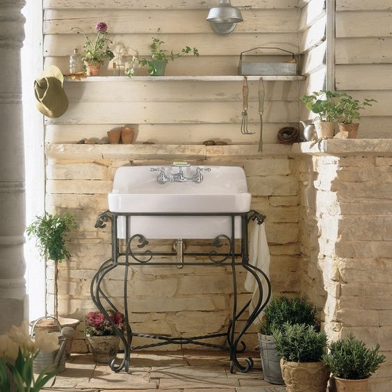 use pots and sinks to create your country garden