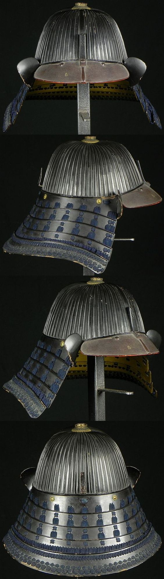 62 plate suji bachi kabuto. School:Saotome. Signature:Joshu Ju Iyenari, first half of the Edo period, 2.6kg.