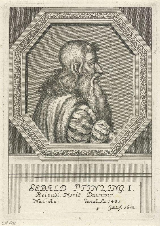 Johann Friedrich Leonard | Portret van Sebald Pfintzing von Hefenfeld, Johann Friedrich Leonard, 1673 | Portret van Sebald Pfintzing von Hefenfeld, magistraat te Neurenberg.