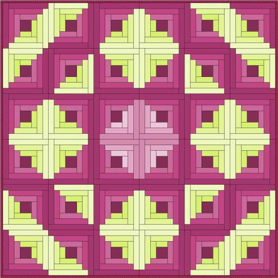 Log Cabin Article -Piecemeal Quilts. Awesome resource.