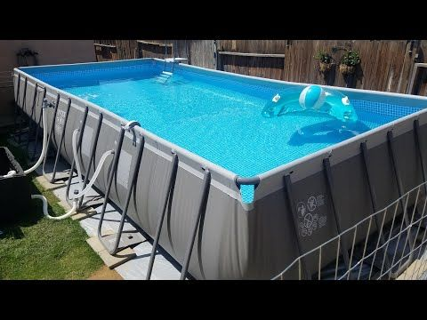 Intex Pool 24 X 12 X 52 The Sosa Family Youtube Intex Pool