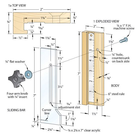 Quick And Easy Height Gauge Instrument Mesure Pinterest Cuttings And Gauges