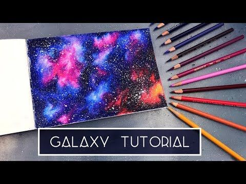 How To Draw A Galaxy Coloured Pencil Tutorial Youtube With