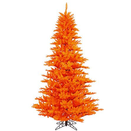 "Vickerman Unlit 3' x 25"" Orange Fir Artificial Christmas Tree"