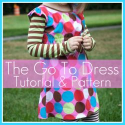 The Go To Dress pattern - a free printable pattern that uses knit fabric.