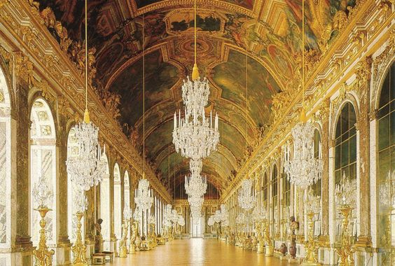The Hall of Mirrors from the Palace of Versailles, France #Baroque #Paris