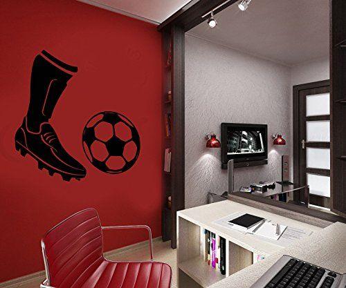 Wall Decal Vinyl Sticker Soccerball Foot Football Player Bedroom Dorm B364 CreativeWallDecals http://www.amazon.com/dp/B00XKYY086/ref=cm_sw_r_pi_dp_5Svzvb19A40ET