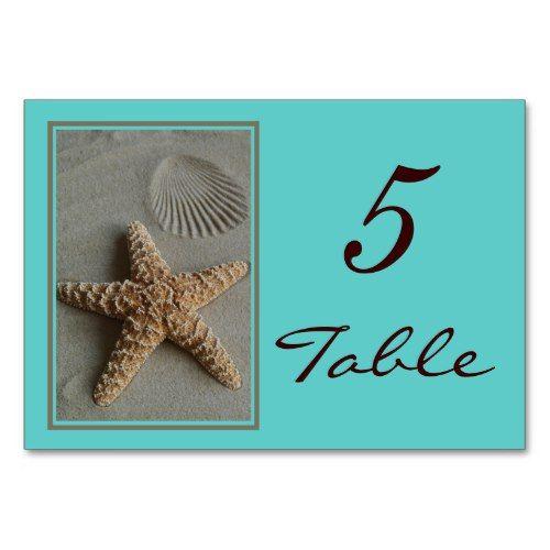 Beach Theme Wedding Table Numbers Cards Zazzle Com Card Table