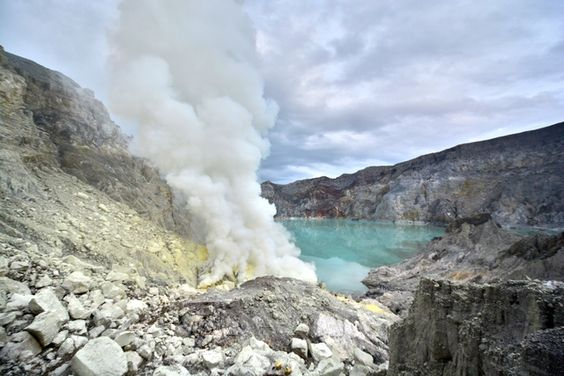 You Won't Believe What This Volcano Looks Like at Night: By day, Kawah Ijen is an ordinary (if terrifying!) Indonesia volcano