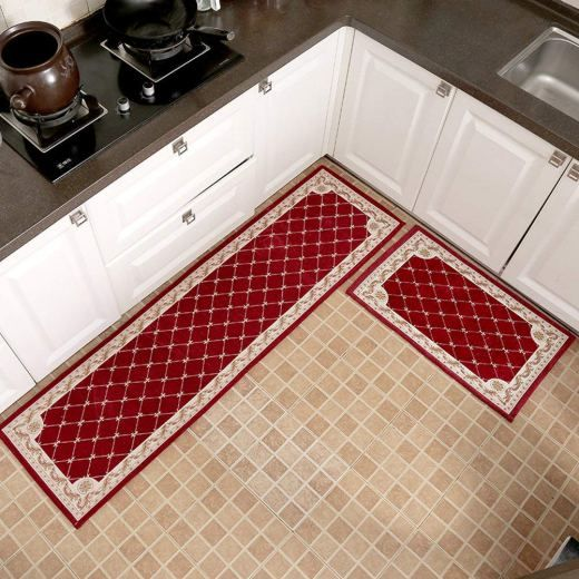 Red Kitchen Rugs With Images Red Kitchen Kitchen Rug Red