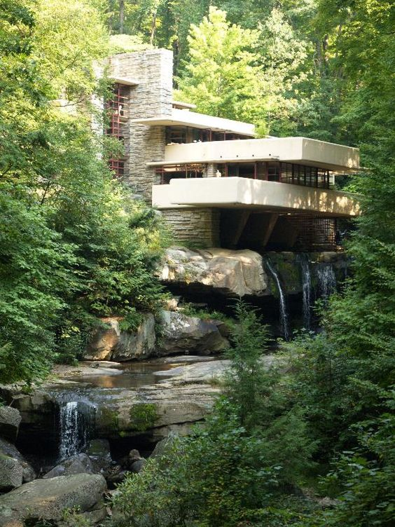 "Frank Lloyd Wright's ""Fallingwater"", Mill Run, Pa"