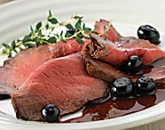 Roast Beef Blueberries. Tasty Scotch Beef PGI recipe