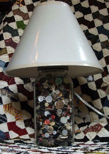 Vintage button Lamp