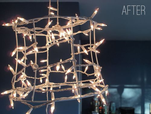Naked Lampshade with Twinkle Lights