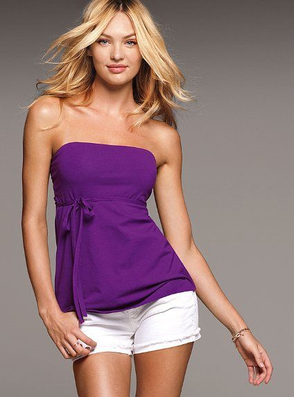 strapless top...