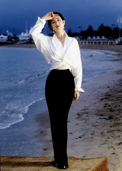 """wednesdaydreams: Gong Li at the Cannes Film Festival in 1993 for the film """"Farewell My Concubine"""""""