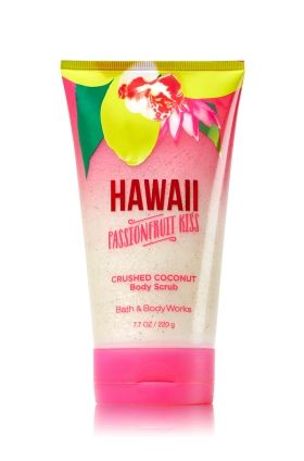 Hawaii Passionfruit Kiss - Crushed Coconut Body Scrub - Signature Collection - Bath & Body Works - Enjoy beautiful, beach-worthy skin with our limited edition Crushed Coconut Body Scrub! Gently-exfoliating crushed Coconut Shell combines with Coconut and Monoi oils to create an indulgent, creamy formula to pamper skin and leave it feeling soft and touchable.