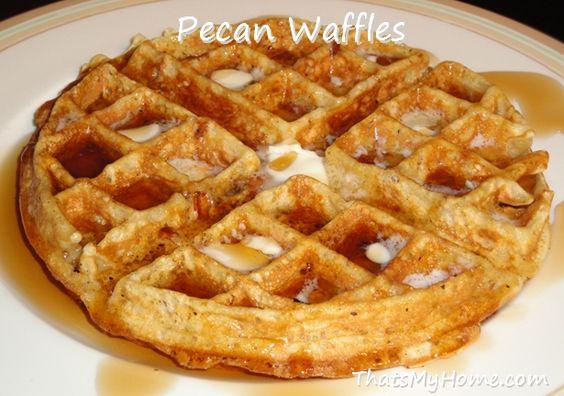 pecan waffles recipe pumpkin pecan waffles waffles real waffles crispy ...