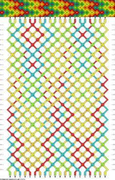 DIY Friendship Bracelets-this would be a neat pattern for seed beads