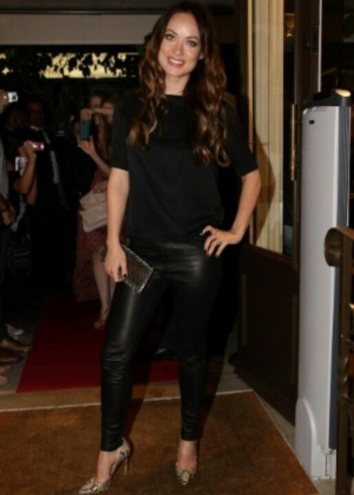 Olivia d'abo, Leather and Pants on Pinterest