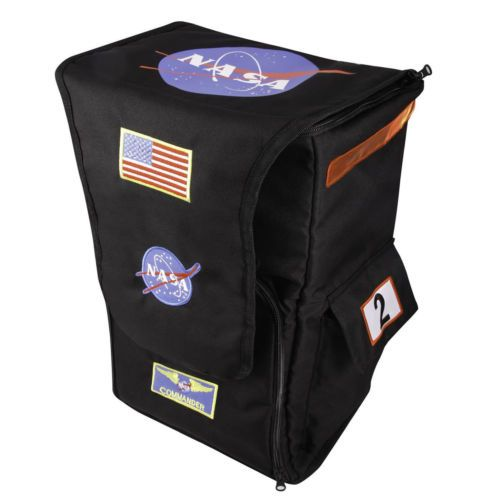 Astronaut Backpack White Aeromax Jr with NASA patches