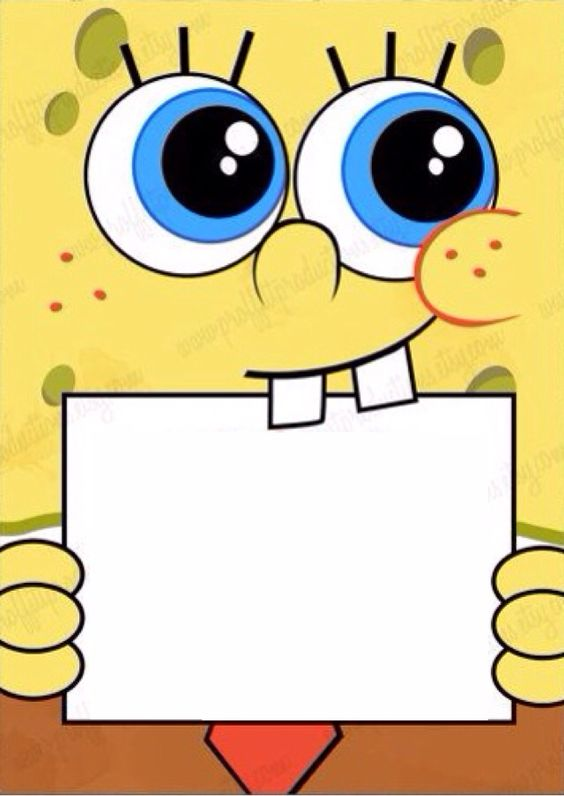 Type in your own wording to this spongebob invite !!!