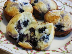 Food for A Hungry Soul: Really, Really, Really Good Blueberry Muffins