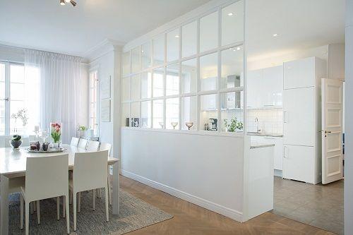 Open kitchen partition bedroom Pinterest Open kitchens